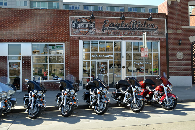EagleRider Motorcycle Location in Denver
