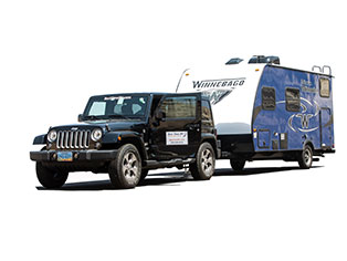 Jeep & Trailer of Best Time RV