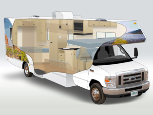 Motorhome Large C30 of Cruise America